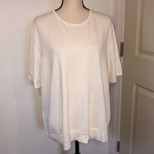 Lands End cream colored thin knit sweater Size 3x